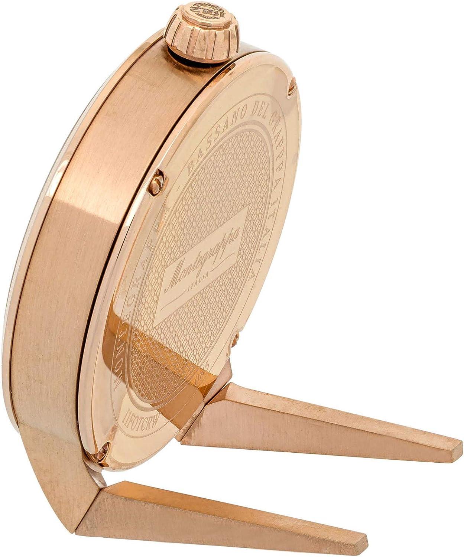 Montegrappa Fortuna White Dial Rose Gold Plated Stainless Steel Quartz Desk Clock IDFOTCRW
