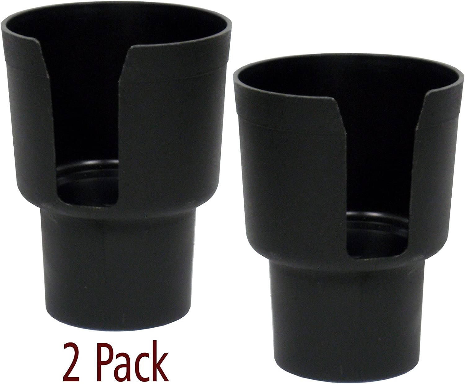 "Gadjit Cup Keeper Adapter (2 Pk) expands Narrow Car Cup Holders from 2.5-3"" up to 3.25"" in Diameter to Hold Mugs, Convenience Store Cups, Water + Soda Bottles up to 3.25"" Wide and 8-10"" Tall (Black)"
