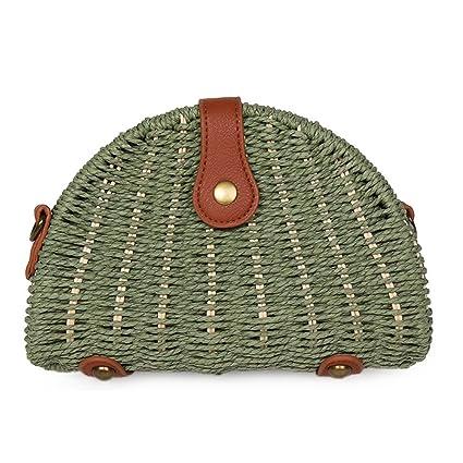 875560377a1f Amazon.com: SHZONS Bamboo Handbag, Handmade Woven Tote Bamboo Purse ...