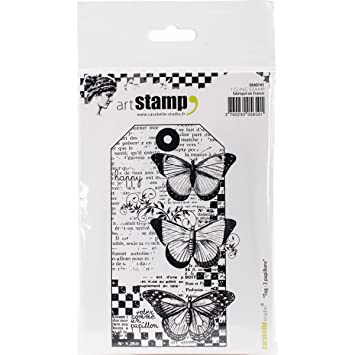 Carabelle Studio SA60184 Cling Stamp A6-Stains /& Seams