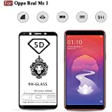 CEDO Xpro Full Glue Coverage 5D Edge-to-Edge 9H Tempered Glass Screen Protector for Oppo RealMe 1(Black)