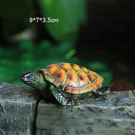 Falso Animal simulación tortuga Modelo Patio Jardín Villa piscina estanque de peces paisaje resina decoración del ornamento Figurita cubierta patio al aire libre del estreno de regalo del césped: Amazon.es: Hogar