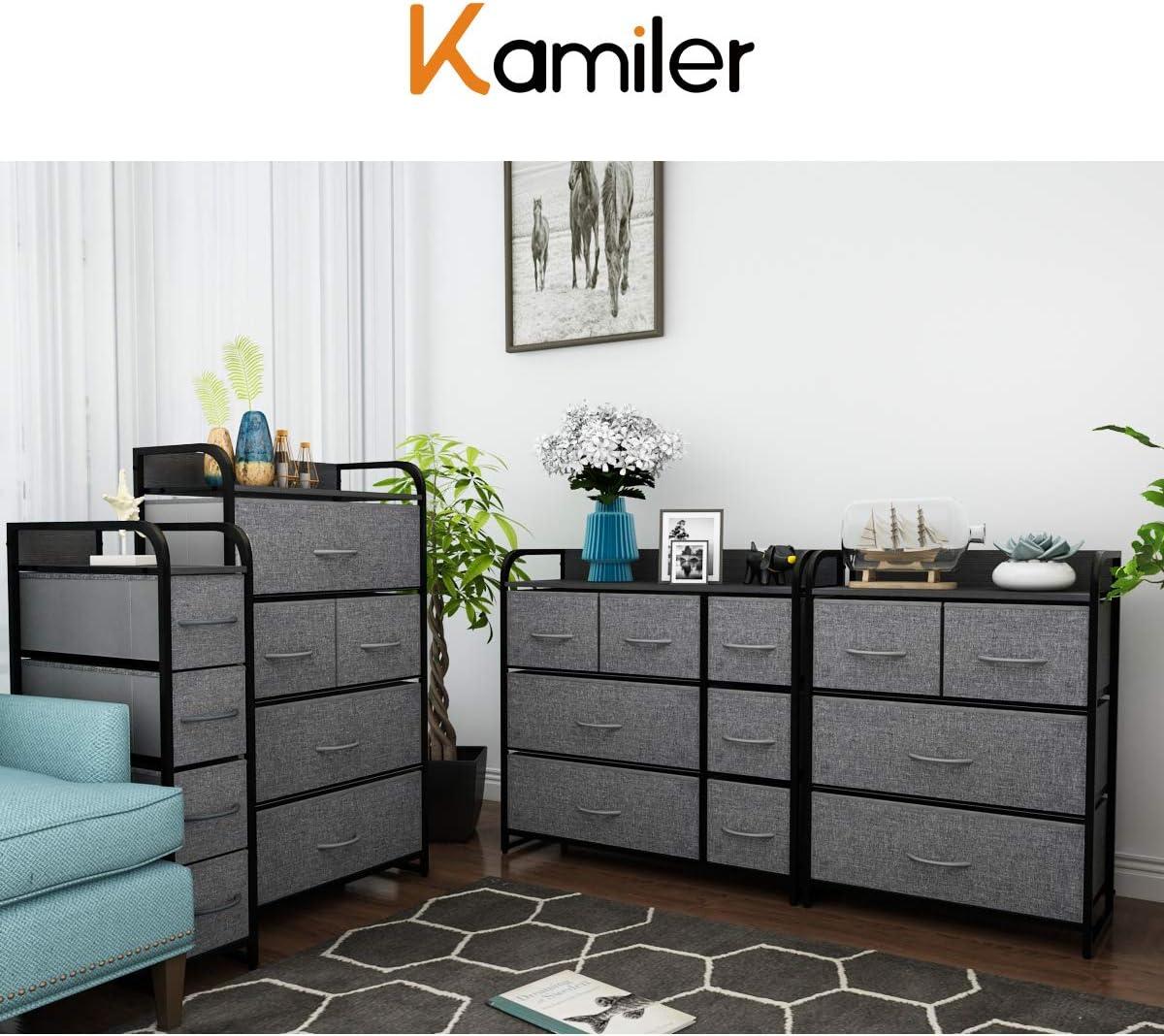 Amazon Com Kamiler 7 Drawer Dresser And 4 Drawer Dresser Set Storage Organizer Tower Unit For Bedroom Closet Hallway Entryway Kitchen Dining