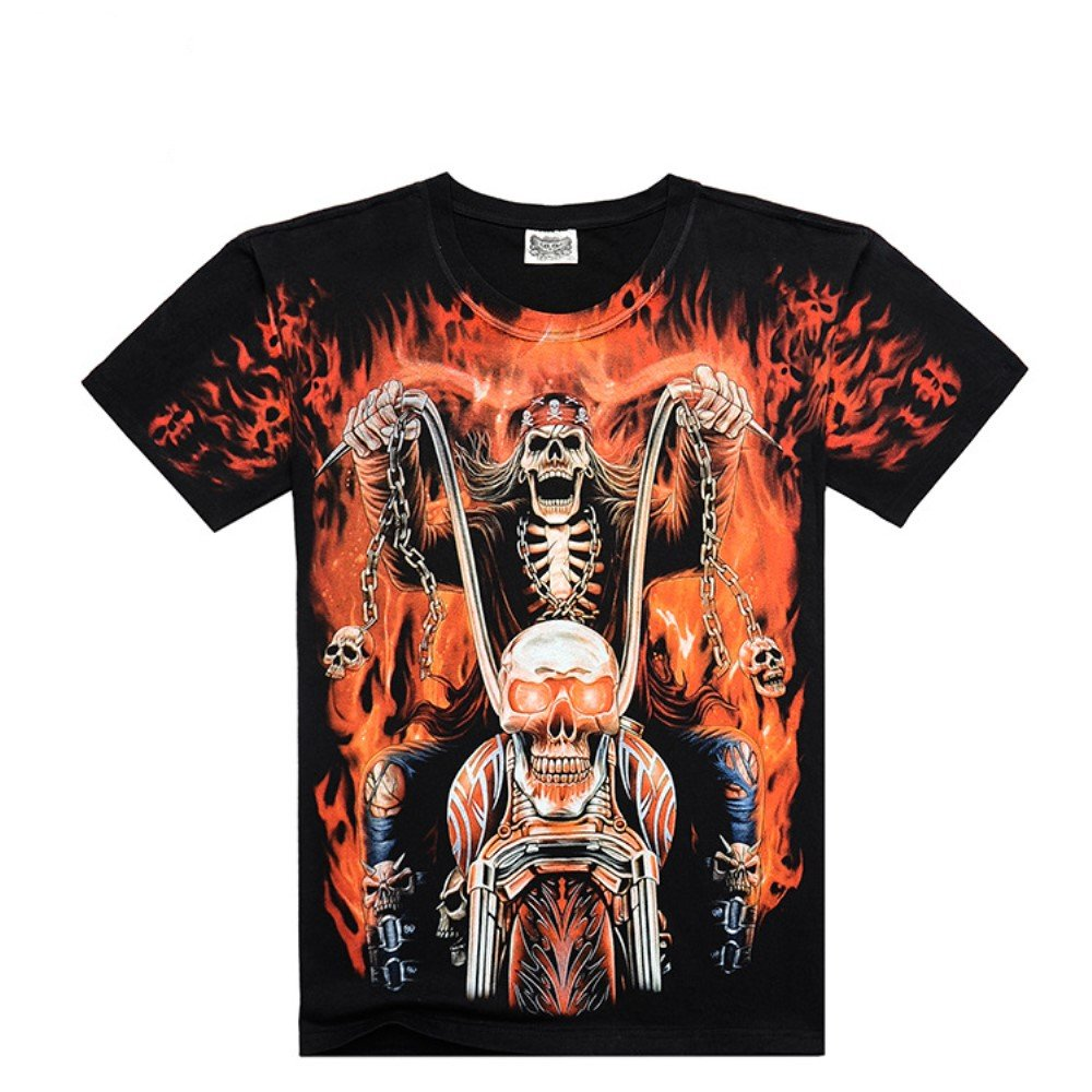 Amazon Katoot Summer 3d Harley Motorcycle And Eagle Printed T