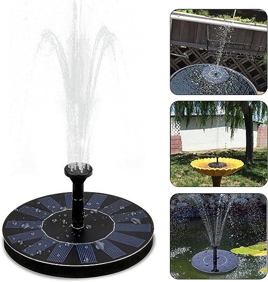 Solar Fuente Bomba, Fuente de Jardín Solar, Kit de Bomba Sumergible para el Aire Libre Baño de Aves, Estanque, Piscina, Patio, decoración de jardín: Amazon.es: Productos para mascotas