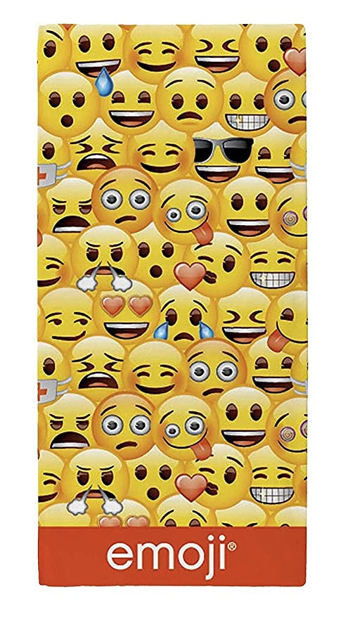 Winky cara deliciosa y gafas de sol Emojis impreso - Toalla ...