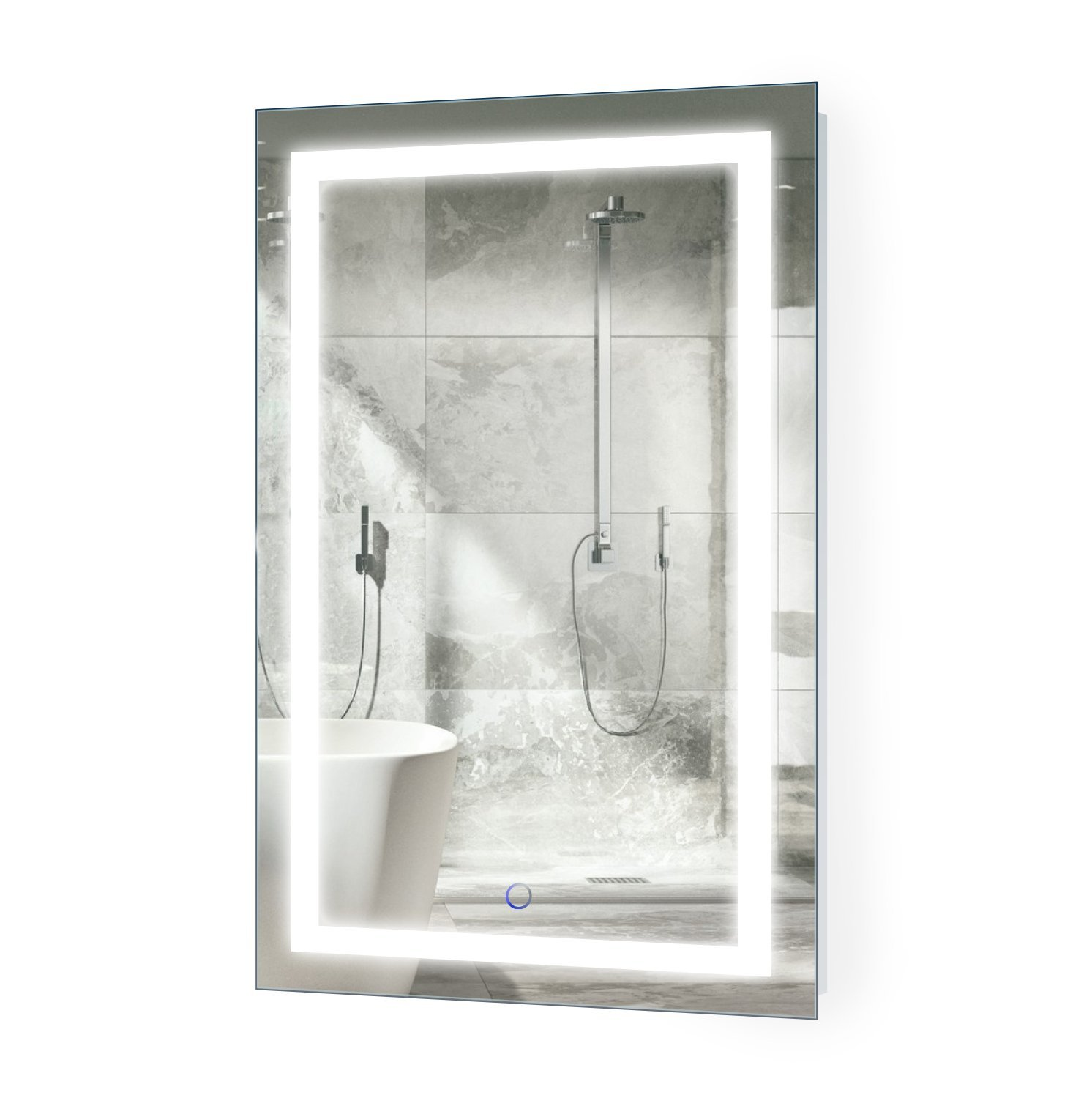 Wall Mount Vertical or Horizontal Installation Icon2032 Lighted Vanity Mirror Includes Dimmer and Defogger Krugg LED Bathroom Mirror 20 Inch X 32 Inch