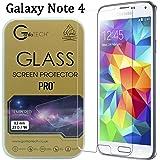 Samsung Galaxy Note 4 Gorilla Tech® Film En Verre Haut De Gamme Invisible Incassable Et Dureté 9H Transparant Qualité HD Anti -Bris Transparent Et Résistant Aux Rayures