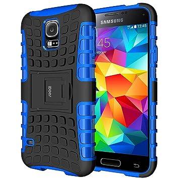 Galaxy s5 Funda, Galaxy s5 Case Carcasa Cases caso armor doble capa híbrida con soporte Cáscara de Cubierta de Silicona Protectora para Samsung Galaxy ...