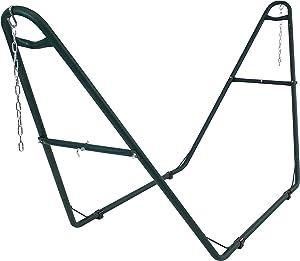 Sunnydaze 550-Pound Capacity Universal Multi-Use Heavy-Duty Steel Hammock Stand, 2 Person, Fits Hammocks 9 to 14 Feet Long, Green