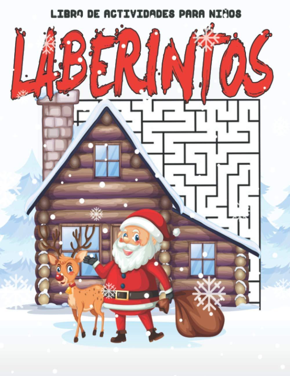 Laberintos: Libro de actividades de navidad - Posible-imposible laberintos para niños Busca y encuentra 100 laberintos