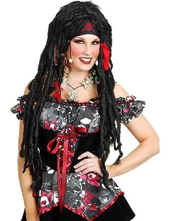 Amazon.com: Voodoo Priest Priestess - Peluca para disfraz de ...