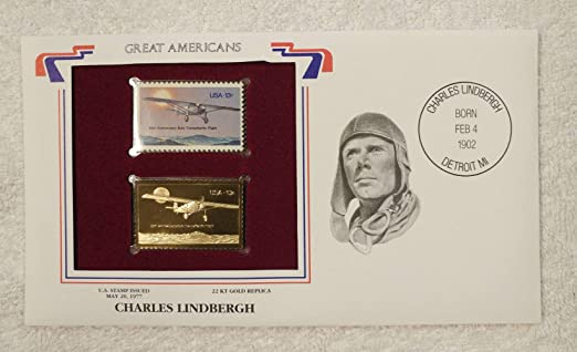 2 U.S SPIRIT OF ST LOUIS MINT CONDITION CHARLES LINDBERGH POSTAGE STAMPS