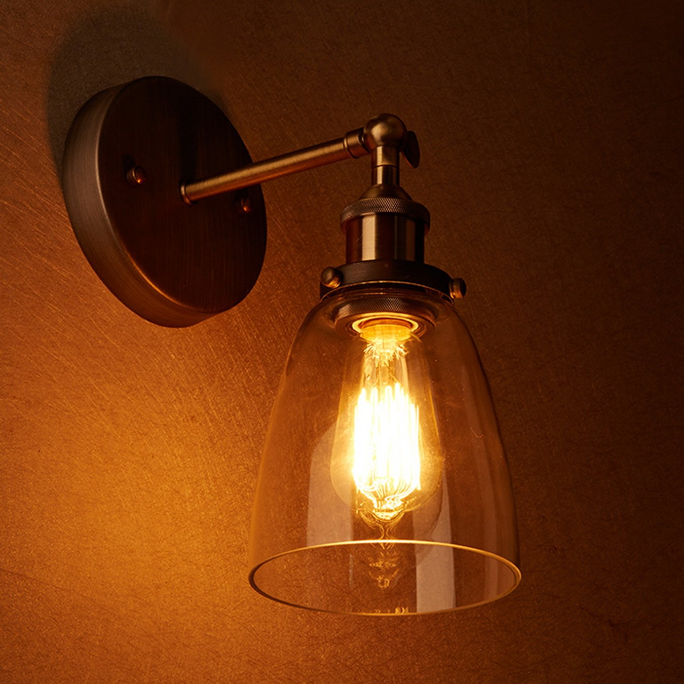 Claxy industrial edison vintage ceiling light glass wall sconce claxy industrial edison vintage ceiling light glass wall sconce lighting amazon lighting mozeypictures Images