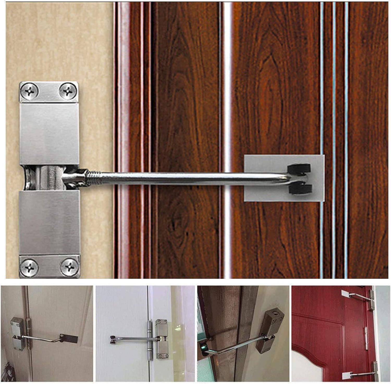 Door Closer Internal Automatic Door Closer Automatic Spring Closer Stainless Steel Silent Adjustable Tension Spring Door Closer Come with Hex Key and Screws for 20-30KG Door Cupboard Door