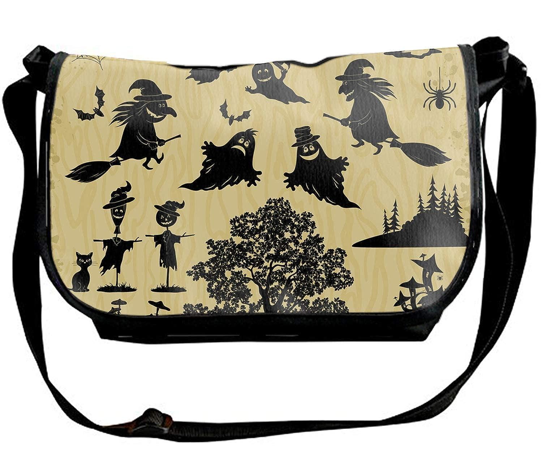 Smiling Halloween Print Waterproof Unisex Casual Shoulder Bag Crossbody Bags
