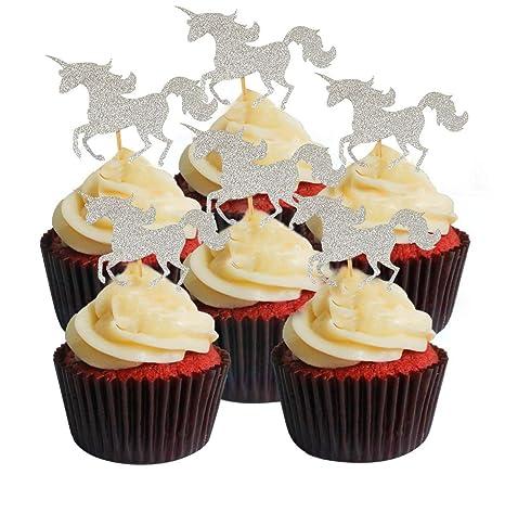 Unicornios Decoración para tarta 30 unidades/pieza, Twinkle ...