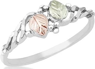 product image for Black Hills Gold Silver Leaf Ring (5.5)