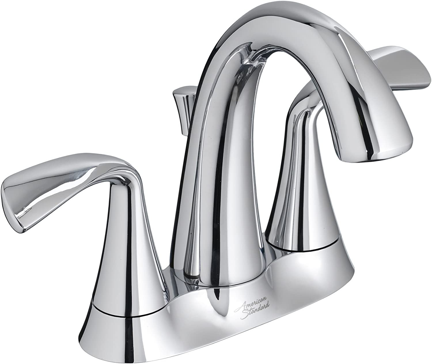 "American Standard 7186203.002 Fluent 4"" Centerset Bathroom Faucet with Speed Connect Drain, Polished Chrome"