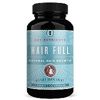 Hair Growth Vitamins with Biotin: Hair Full Promotes Fuller, Thicker, Healthier Hair, with Biotin, Keratin Bamboo & More. for Women & Men, for Hair, Skin & Nails. 60 Veggie Caps (1)