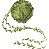 Artificial Vines, 253 Ft Fake Hanging Plants Silk Ivy Garlands Simulation Foliage Rattan Green Leaves Ribbon Wreath Accessory Wedding Wall Crafts Party Decor