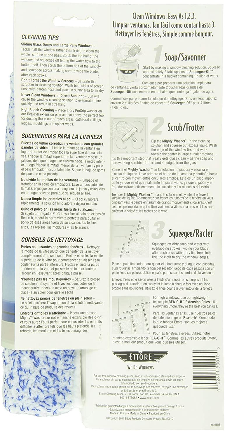 2 Pack 10-Inch Ettore 50010 Mighty Window Washer