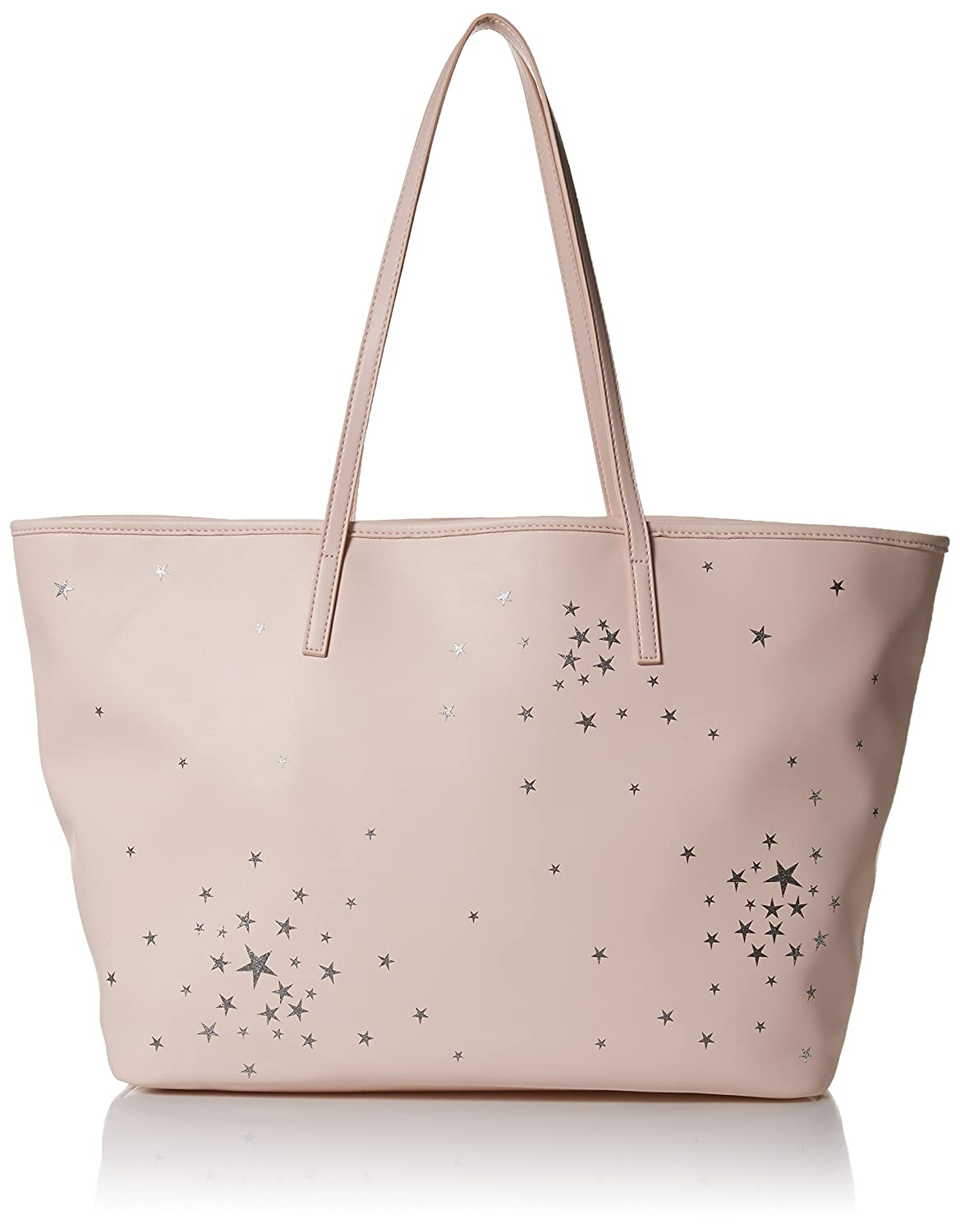 Dear Drew by Drew Barrymore on the Go Vegan Leather Celestial Tote Bag Perfect Pink DR163