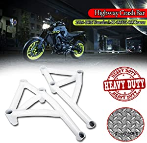 Motorcycle Crash bar White Steel Highway Stunt Cage Engine Guard Falling Protection for 14-16 Yamaha MT FZ 09 FZ-09 MT-09 MT09 FZ09 Tracer 900 XSR900 Accessories 2014 2015 2016