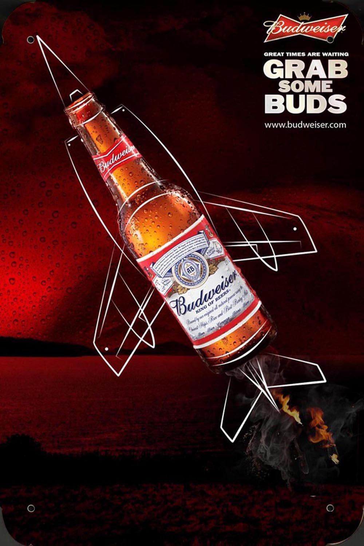 budweiser Beer Grab Some Buds metal poster cartel hojalata ...