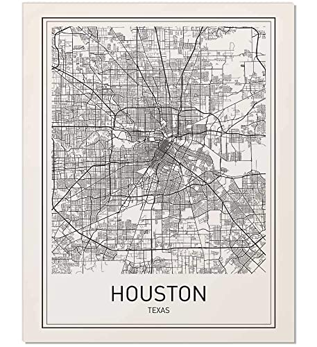Houston On Map Of Texas.Houston Poster Houston Map Map Of Houston City Map Posters Houston Map Print Texas Map Black And White Prints Map Wall Art Modern Art Wall
