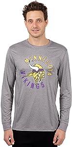 Ultra Game NFL Men's Active Long Sleeve Tee Shirt