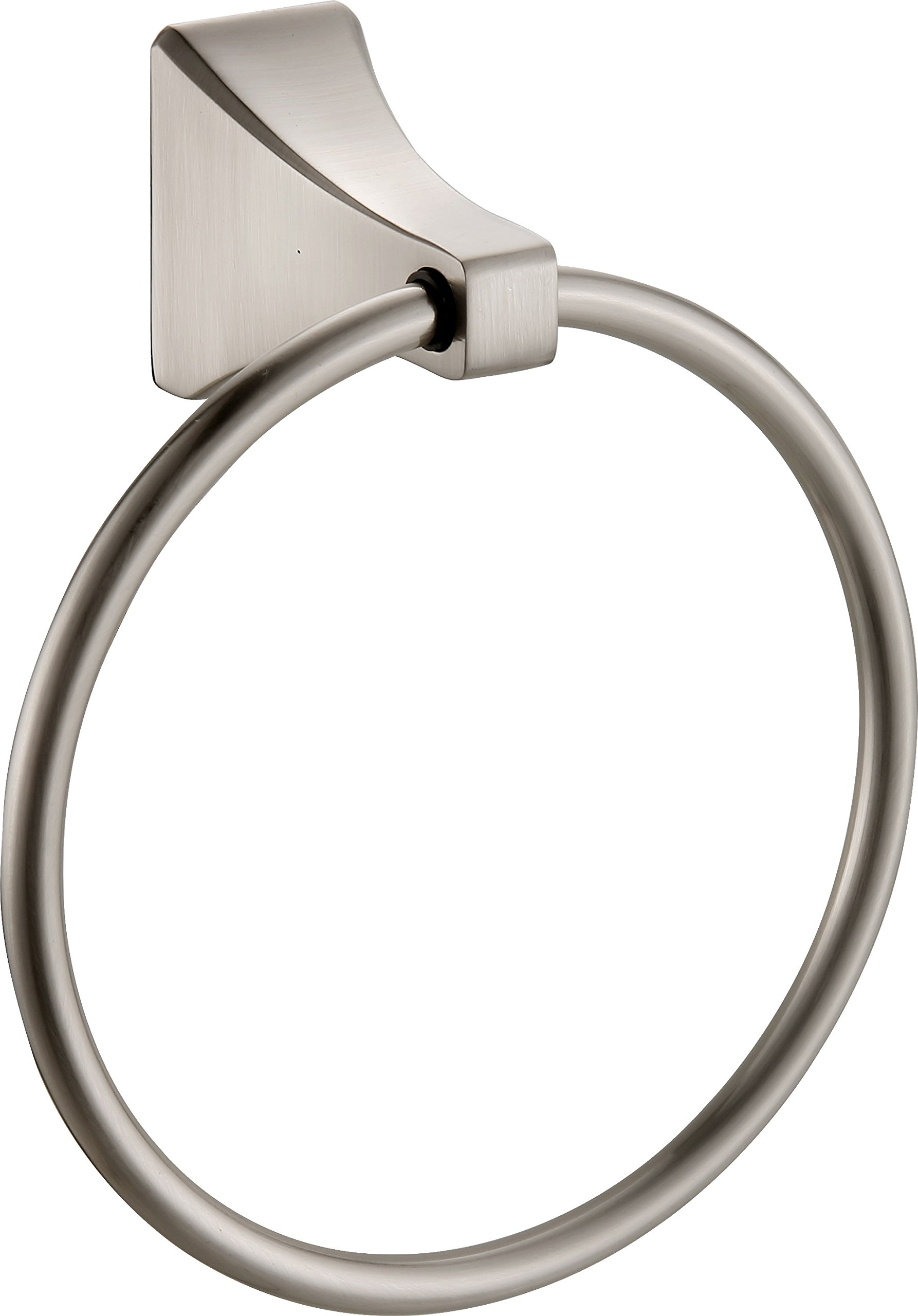 Paradise Bathworks 64028 Shangri-La Towel Ring, Satin Nickel by Paradise Bathworks