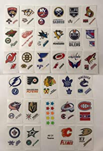 Rmix 31 Hockey Stickers Complete Set. Die Cut Logo - Plus 10 Star Stickers