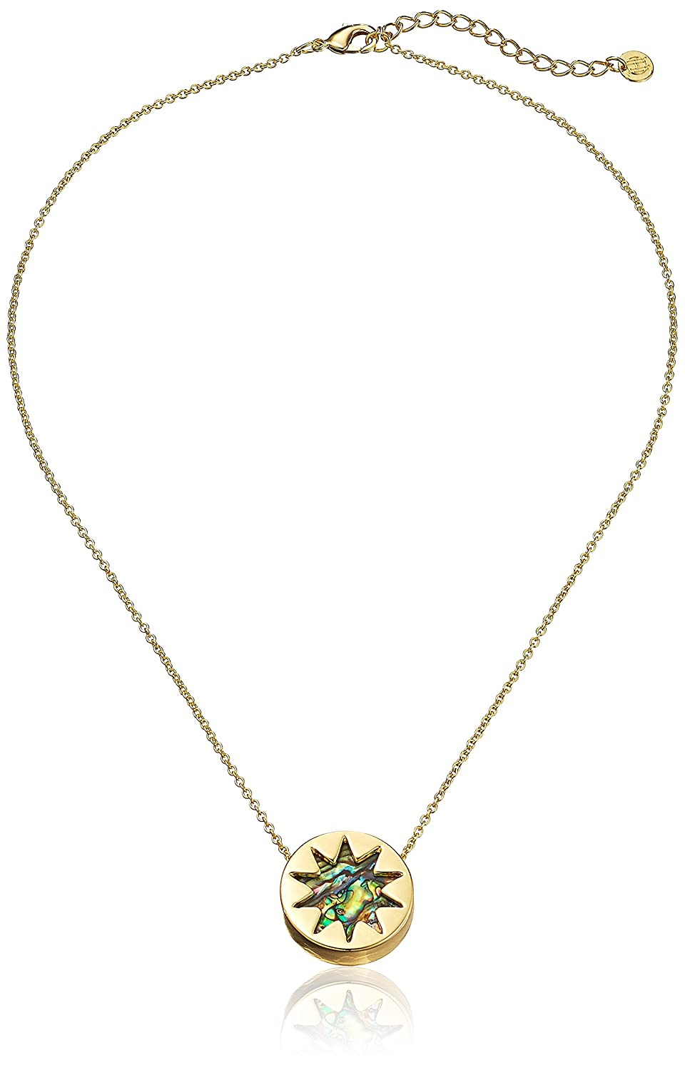 pav pendant harlow necklace house of gold khaki pave sunburst fashionest products