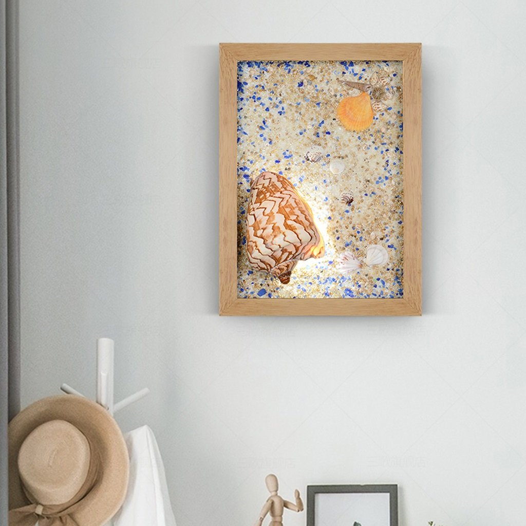 Unbekannt Met Love Kunst Shell Wandleuchte Led Wandleuchte Kreative Persönlichkeit Studie Schlafzimmer Kinderzimmer Wohnzimmer Mittelmeer Lichter (Farbe : B)