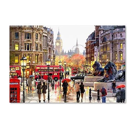 London Landscape by The Macneil Studio, 22×32-Inch Canvas Wall Art