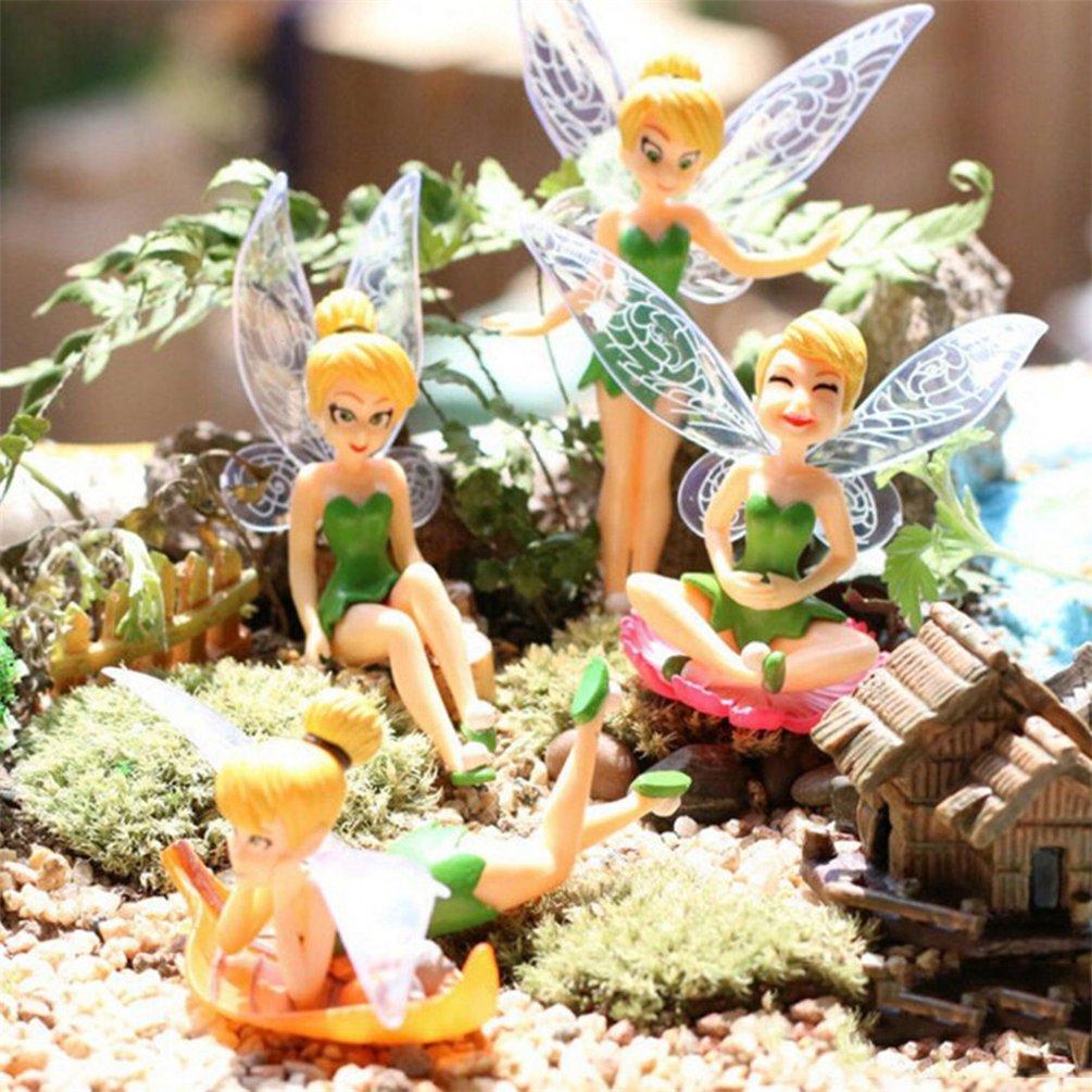 bismarckbeer 1Pc Miniature Fairy Garden Cute Flower Fairy Figurine Landscape Ornament DIY Decor