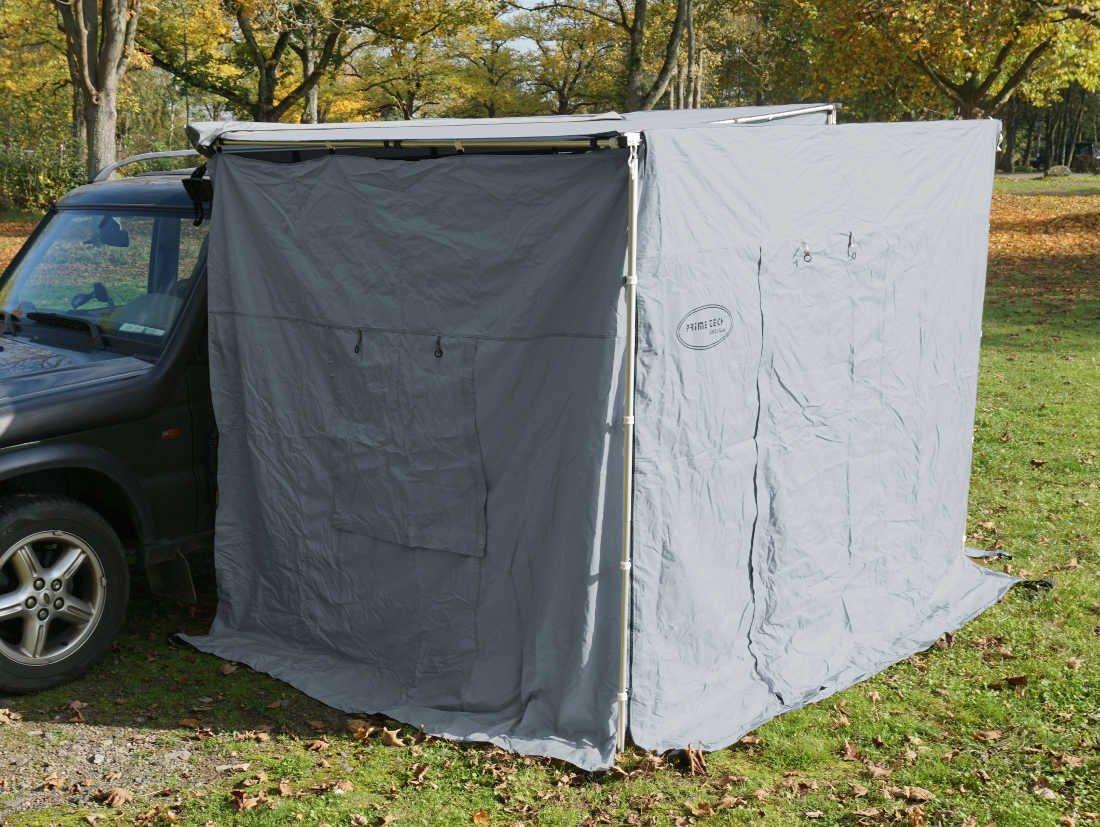 Seitenwände zur Dachzelt-Markise grau 250x200x210cm Prime Tech