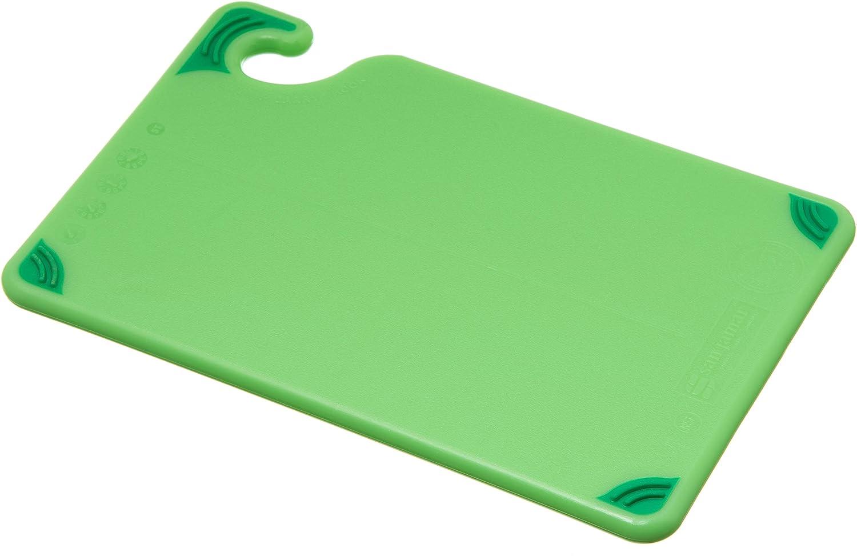 "San Jamar CBG6938 Saf-T-Grip Co-Polymer Bar Board, 9"" Length x 6"" Width x 3/8"" Thick, Green, Model Number: CBG6938GN"