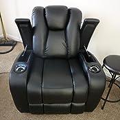 Amazon Com Delange Reclining Power Sofa With Adjustable