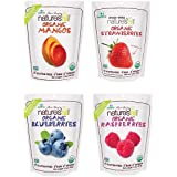 Natierra Nature's All Foods Organic Freeze-Dried 4 Pk Variety: Mango, Raspberry, Blueberry and Strawberry