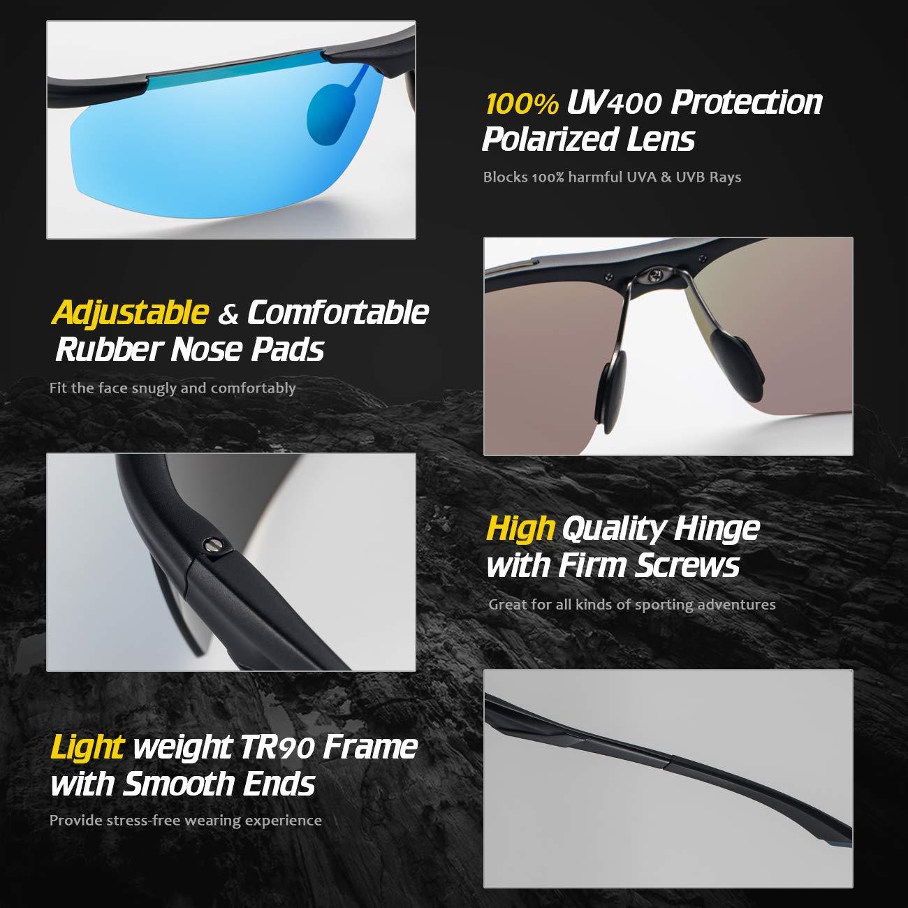 f25a044a6e04 Amazon.com   Avoalre Polarized Sports Sunglasses