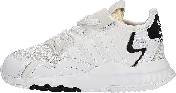 adidas Nite Jogger Zapatillas blancas para niño EE6479: Amazon.es: Zapatos y complementos