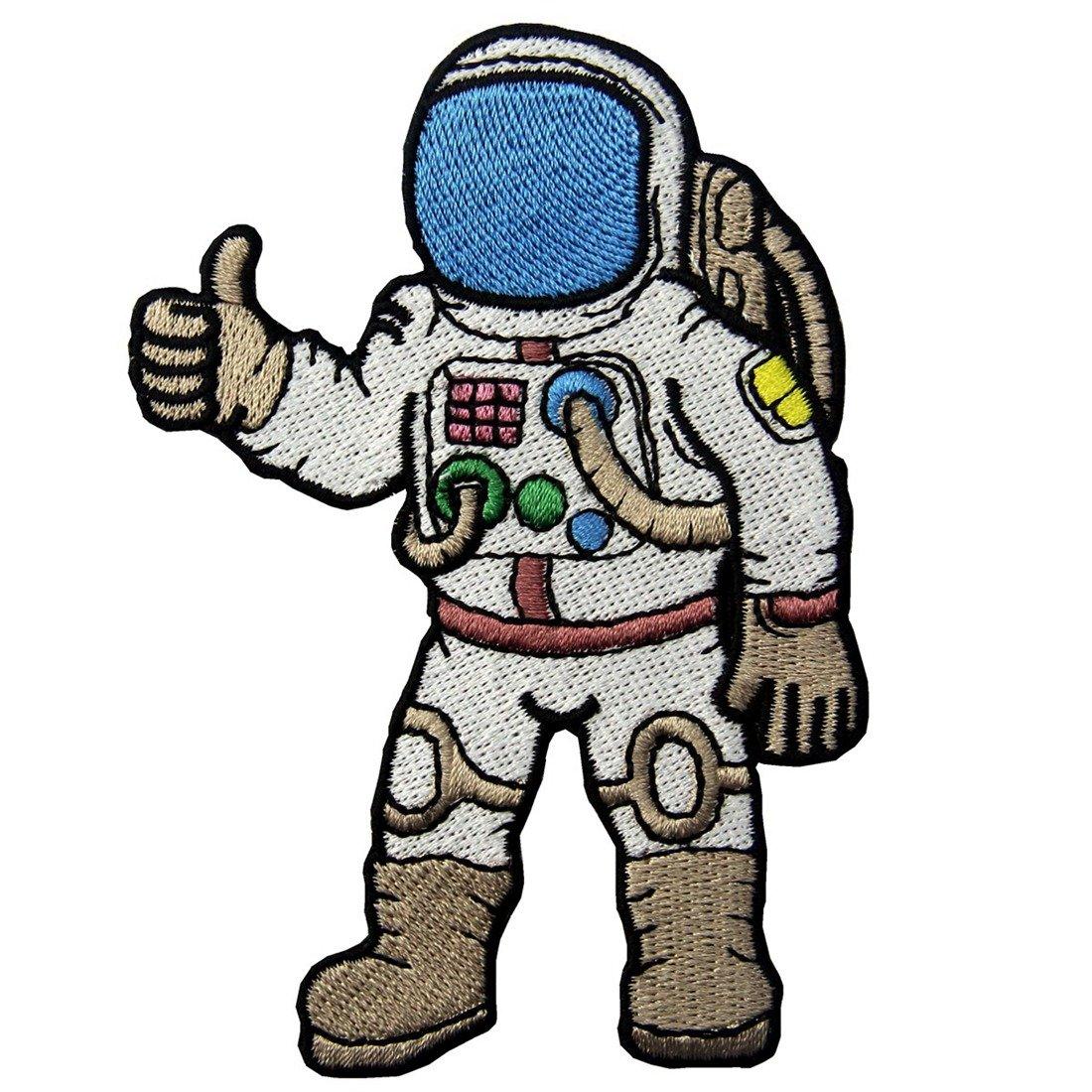 Astronauta Un Viaggio Nello Spazio Ricamato Il Ferro Su Cucia Sulla Zona ZEGIN