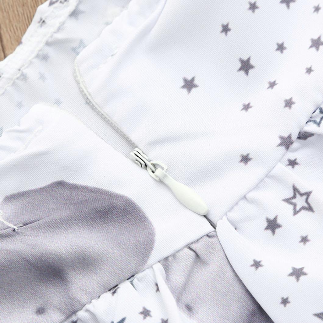 squarex Baby Girls Dress Stars Elephant Print Dresses Clothing Outfits