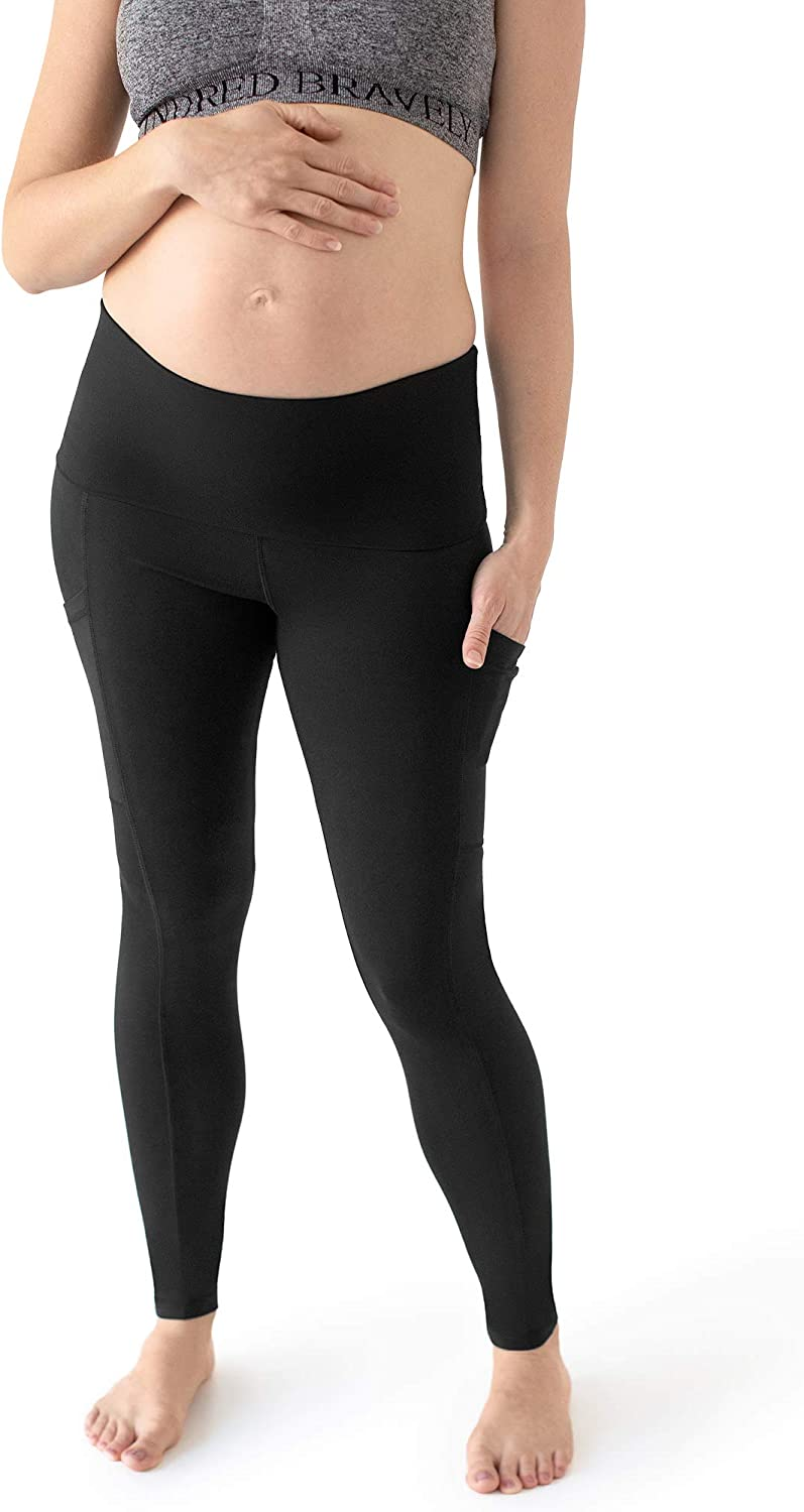 Kindred Bravely Louisa Ultra High Waisted Over The Bump Maternity Pregnancy Leggings Women Clothing Shoes Jewelry