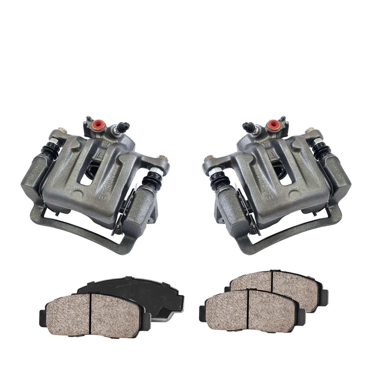 CCK03264 REAR [2] Premium Loaded OE Caliper Assembly Set + [4] Quiet Low Dust Ceramic Brake Pads Kit Callahan Brake Parts