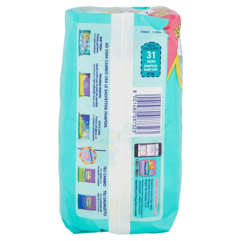 Pampers Baby-Dry Pañales para Bebés, Talla 2 (3-6 kg) - 31 pañales: Amazon.es: Salud y cuidado personal