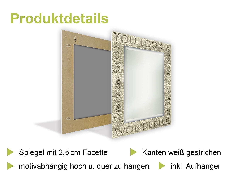 Artland Qualitätsspiegel I Spiegel Wandspiegel Deko Rahmen mit Motiv ...