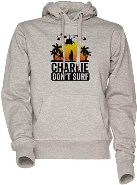 Charlie Dont Surf - Charlie Dont Surf Unisexo Hombre Mujer Sudadera con Capucha Gris Mens Womens